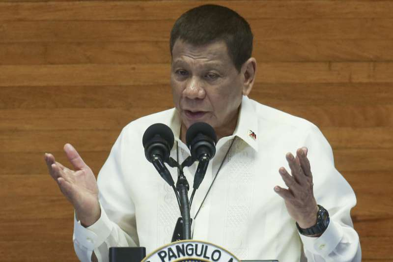 菲律賓總統杜特蒂發表國情咨文(AP)
