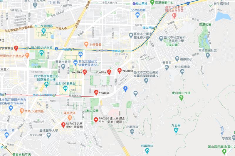Google 地圖除了導航功能外,近年持續擴充新功能,Google28日發布「Google 地圖實用秘技」。(圖/截自Google地圖)