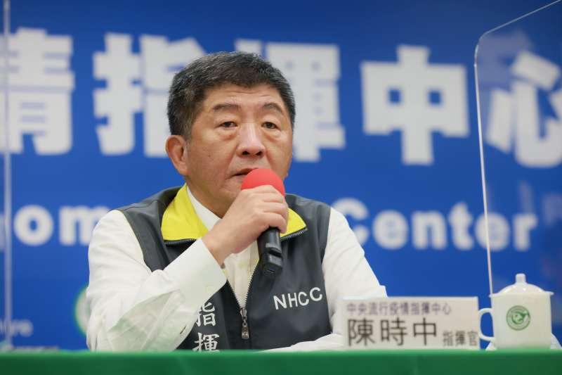 中央流行疫情指揮中心指揮官陳時中(見圖)表示,進一步提升防疫作為的關鍵在於是否出現「本土個案」。(資料照,中央流行疫情指揮中心提供)