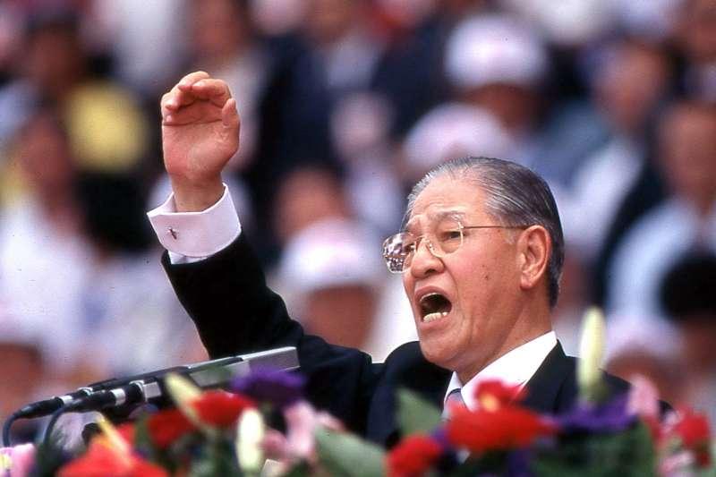 1996年5月20日李登輝在中華民國第九任總統就職典禮上發表演講。(新新聞資料照)