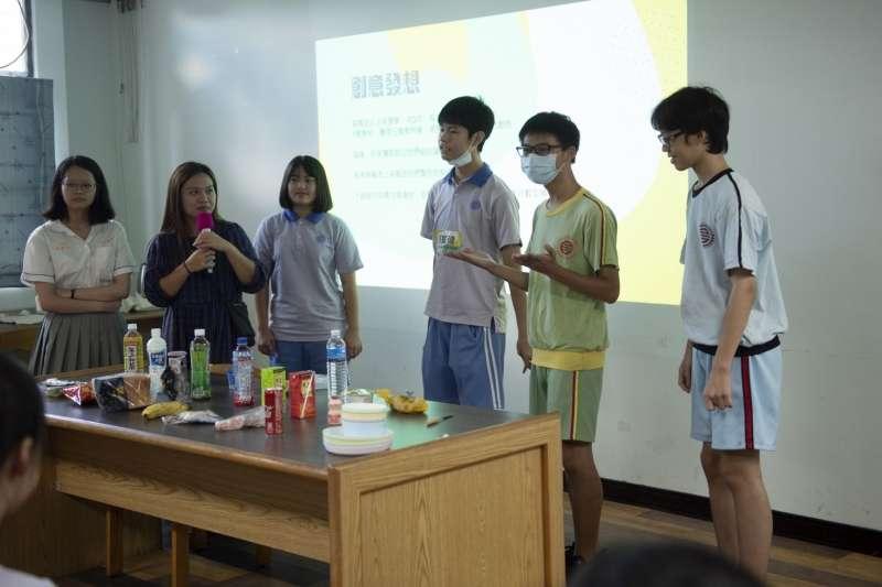 三民高中「新媒體學校暑期夏令營」,百位學生發揮創意,培養自我表達能力。(圖/新北市教育局提供)