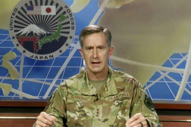 駐日美軍司令凱文・施耐德中將(Kevin Schneider)。(美聯社)
