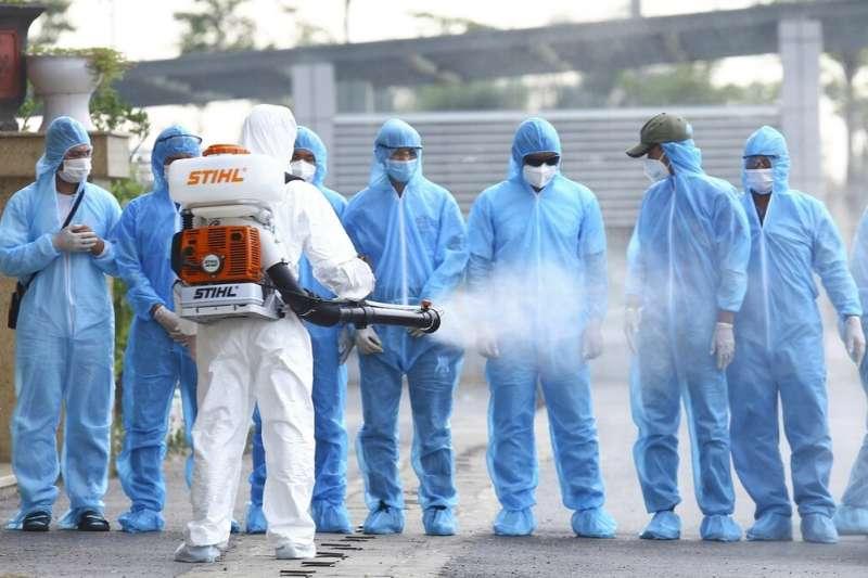 越南防範新一波新冠肺炎疫情爆發。(AP)