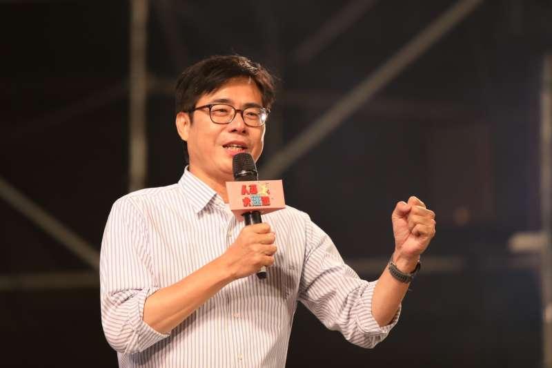 高雄市長補選將至,民進黨候選人陳其邁將再推出宣傳影片,強調投票光榮感、城市願景。(資料照,陳其邁競選團隊提供)