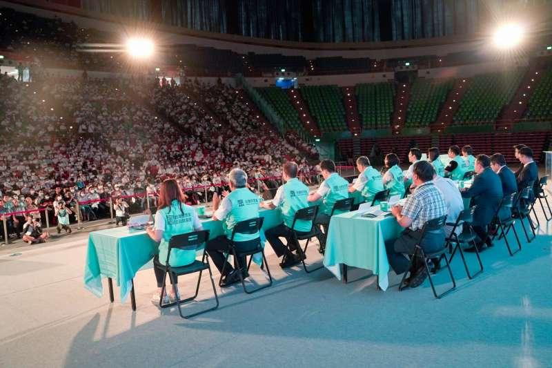 20200802-民眾黨2日舉行黨員大會,會場內部一景。(民眾黨提供)