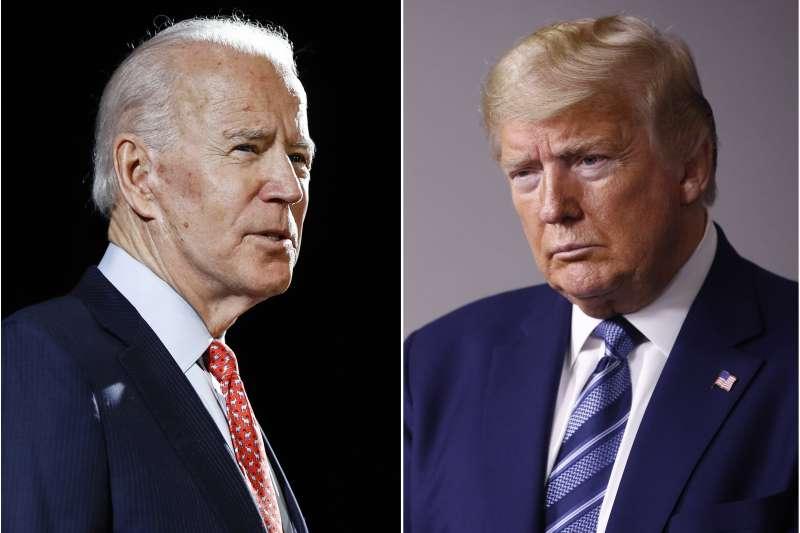 2020美國總統大選:川普對決拜登,兩人對於中國的態度將影響台灣的策略選擇。(資料照,AP)
