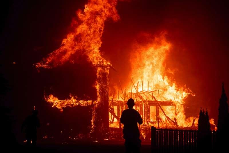 美國加州野火。(美聯社)