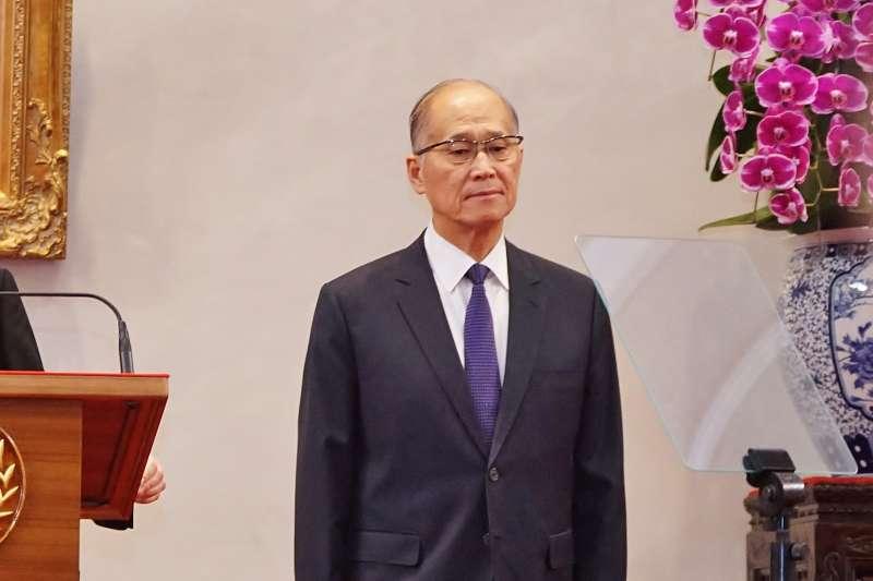 20200803-總統蔡英文3日召開記者會,宣布總統府秘書長由李大維就任。(盧逸峰攝)