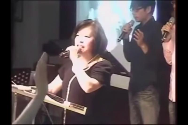 教友圈昨(4)日傳出郭美江已在當天上午7時9分「回天家了」,享壽67歲。(取自takeshi990306的Youtube頻道)