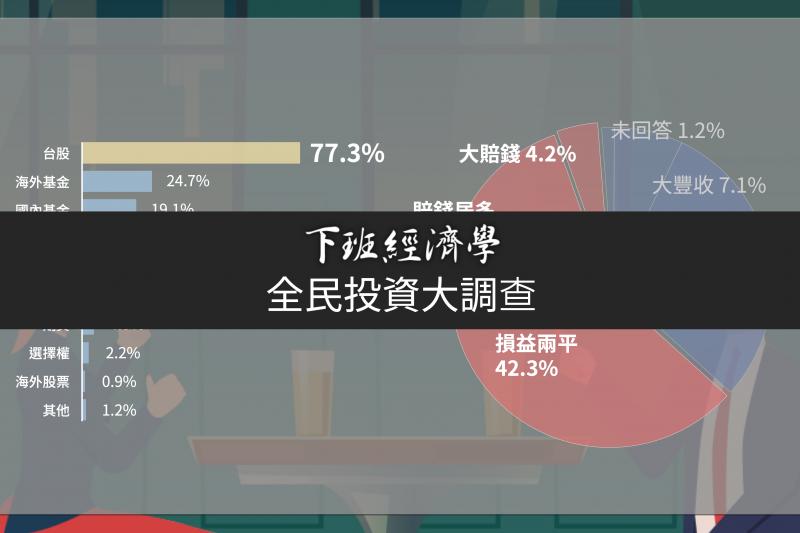 《下班經濟學》與《台灣指標民調》合作,透過問卷調查解析民眾的投資偏好、投資行為、投資思維及投資績效,引領更多的人進入投資的世界