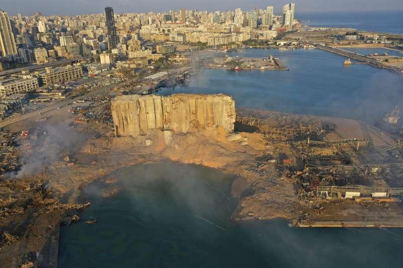 貝魯特港4日發生大爆炸,造成至少78死、4千死慘劇。(美聯社)