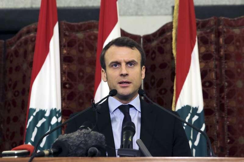 黎巴嫩貝魯特大爆炸,法國總統馬克宏趕赴慰問。(AP)