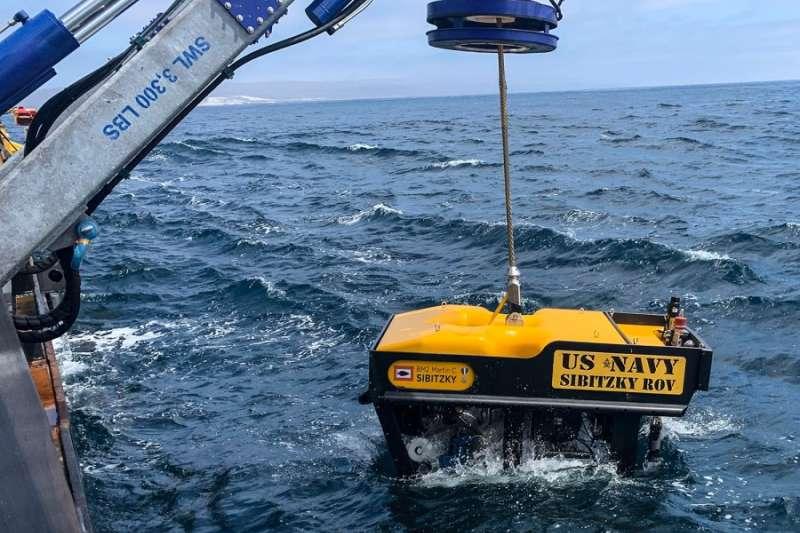 水下探測器已尋獲美軍日前沉沒的AAV。(翻攝《星條旗報》)
