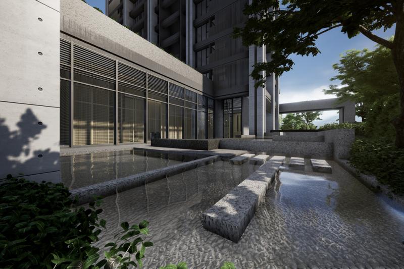 東騰開發首次進入桃園市場,以「匠人精神」打造區內獨有的日系簡約清水建築。 (圖/東騰開發)