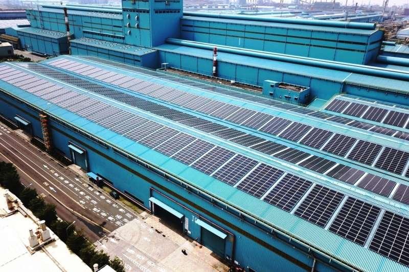 中鋼公司第三冷軋廠區太陽光電工程建置。(圖/中鋼提供)