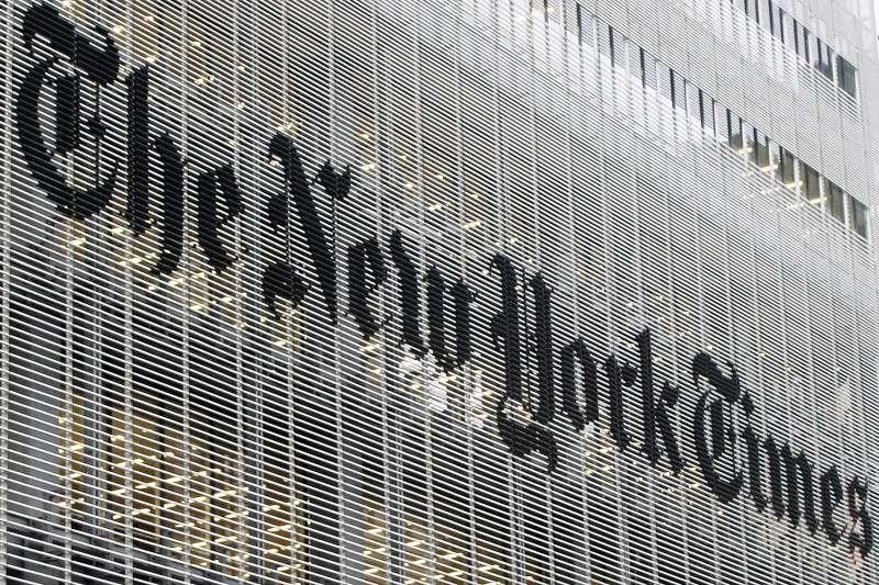《紐約時報》。(AP)