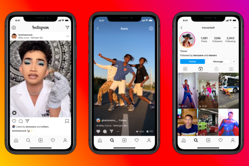 Instagram推出新的短影片功能Reels。(圖/取自Instagram官網)