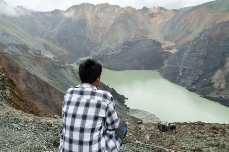 從土石流倖存的緬甸玉礦礦工斯圖波。(BBC中文網)