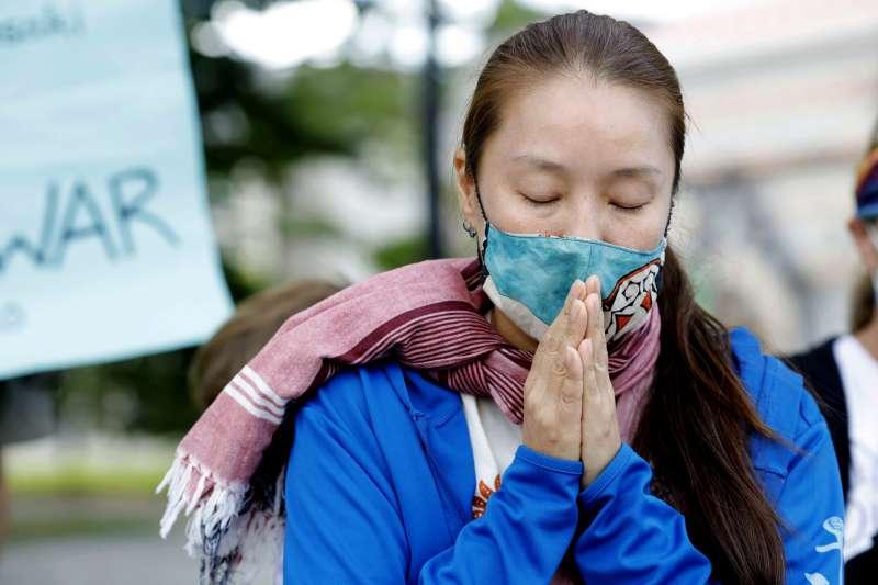 2020年8月6日,廣島原爆75周年(AP)