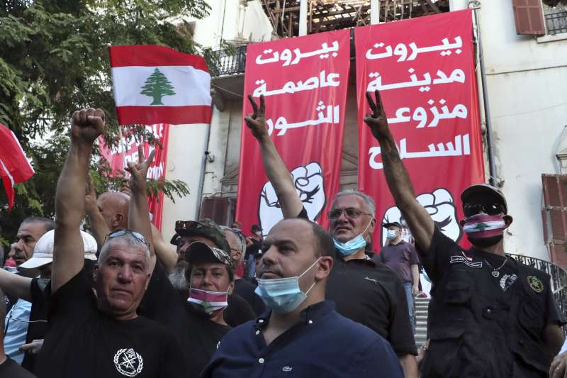 黎巴嫩民眾示威(AP)