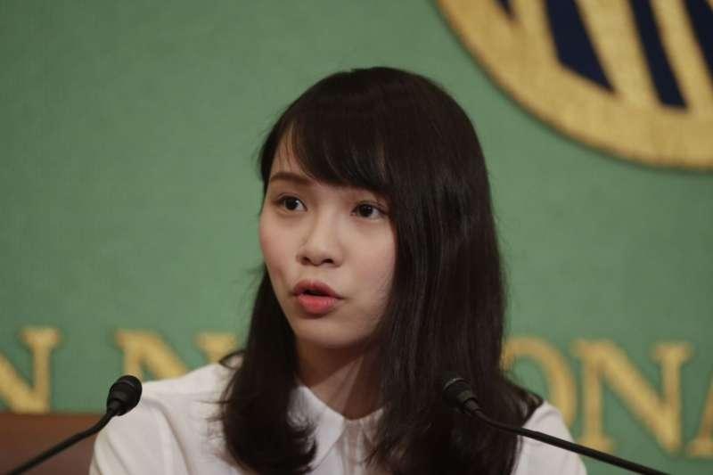 前香港眾志成員周庭10日晚間被捕(美聯社)