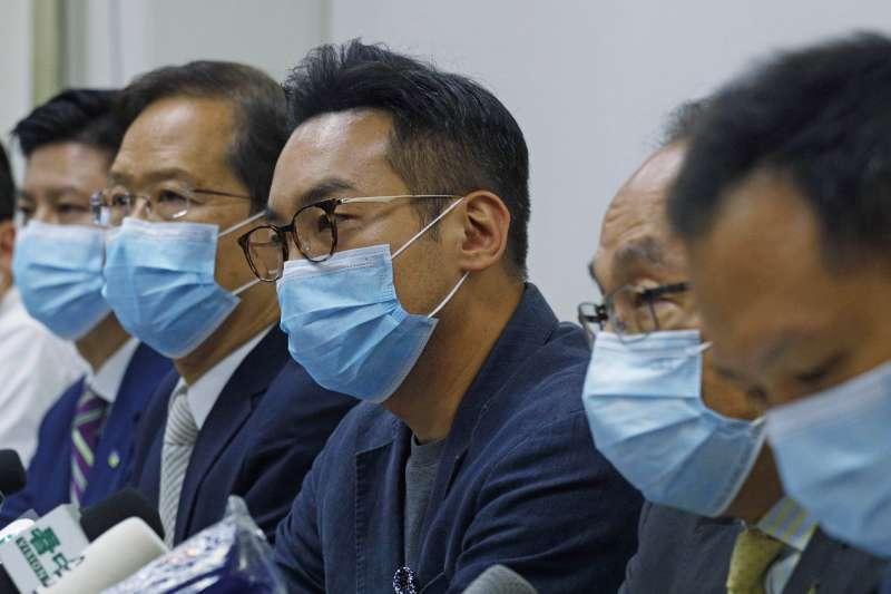 香港立法會:被取消參選資格的4名現任公民黨立法會議員,圖為楊岳橋(AP)