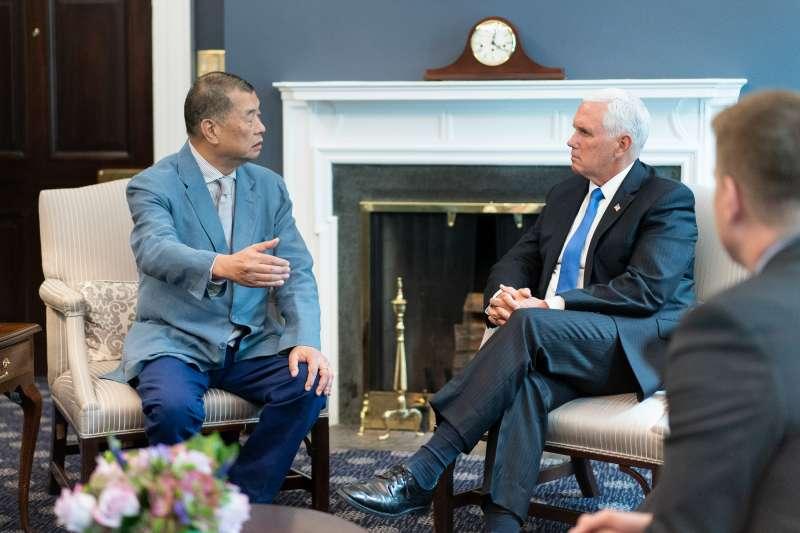 2019年,美國副總統彭斯接見香港媒體人黎智英(Pence@Twitter)