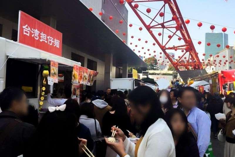 新型冠狀病毒蔓延前,日本各地時常舉辦有關臺灣的物產、文化的「臺灣節」,讓日本的哈臺族心滿意足。(圖/作者提供)