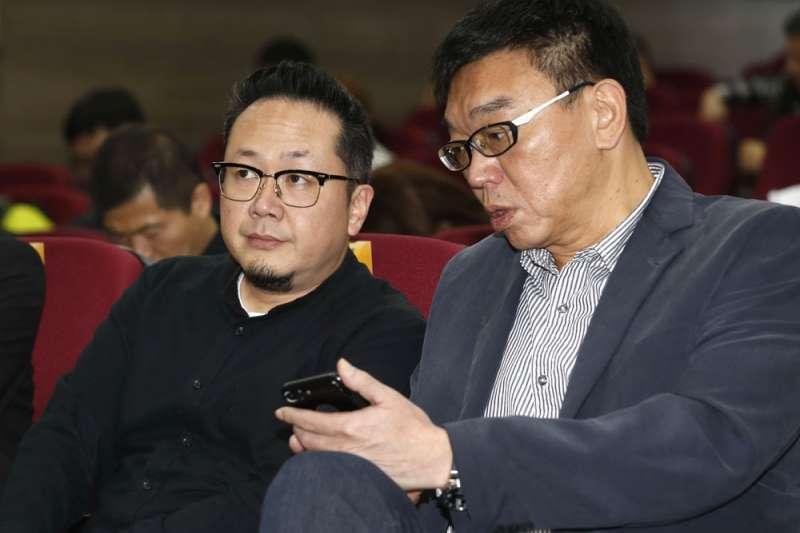 李厚慶(左)能在短時間內辦出重大活動,是民進黨政府重要救火隊。(郭晉瑋攝)