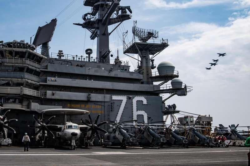 美軍雷根號航空母艦(CVN-76)。(雷根號臉書)