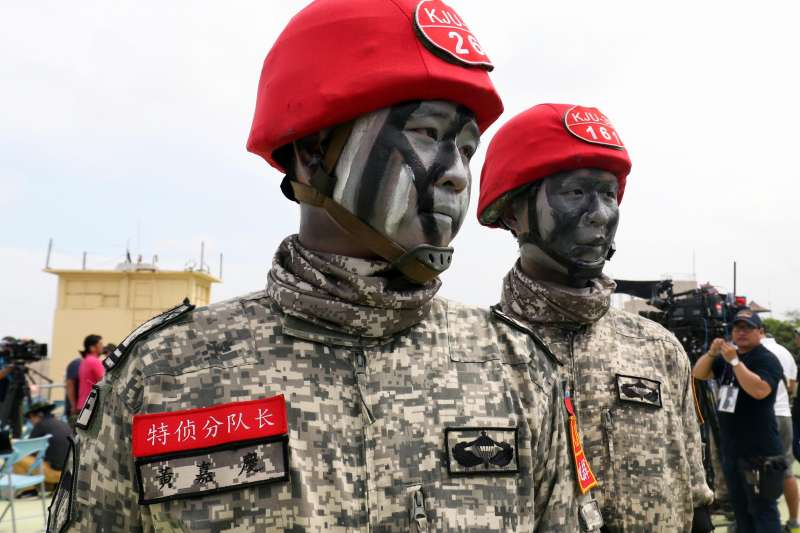 20200813-國軍身著城市數位迷彩的「假想敵」。(資料照,蘇仲泓攝)