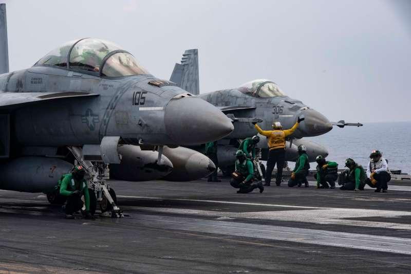 美軍雷根號航母的艦載機F/A-18。(雷根號臉書)