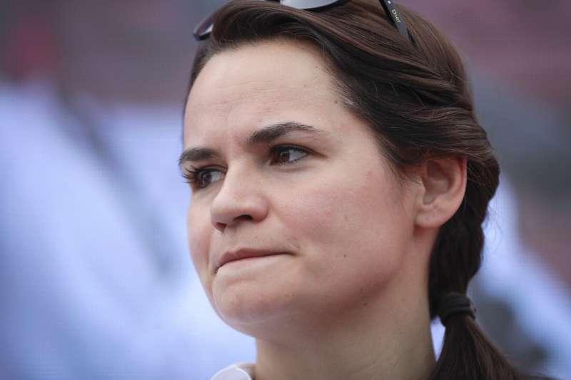 2020年白俄羅斯總統候選人、革命領導人蒂卡諾夫斯卡婭(Svetlana Tikhanovskaya)(AP)