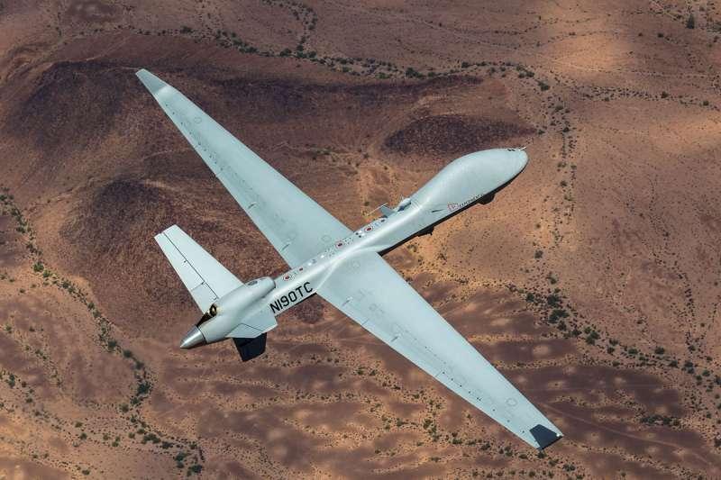 國防部4日表示,美國政府於美東時間11月3日,就「MQ-9B無人機」6億美元對台軍售案,進行「知會國會」程序。(資料照,取自GA-ASI網站)