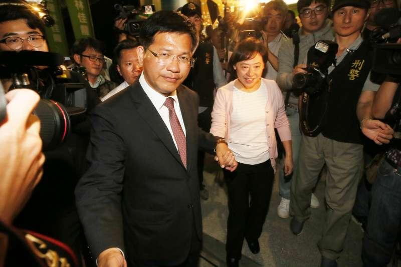 林佳龍(左)的錢由太太廖婉如(右)的娘家打理,難隨意動用。(柯承惠攝)