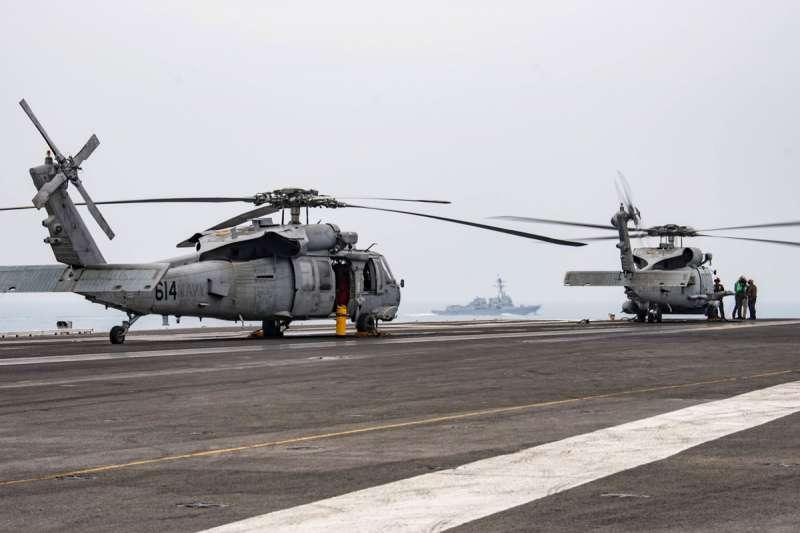 MH-60R反潛直升機也被包在川普「大放送」軍售案之中。(美聯社)