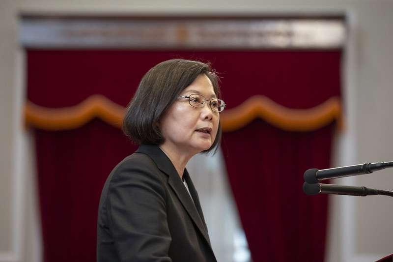 總統蔡英文(見圖)、行政院長蘇貞昌28日中午在台北賓館舉行「行政立法協調會報」 ,討論美豬、美牛開放議題。(資料照,取自總統府)