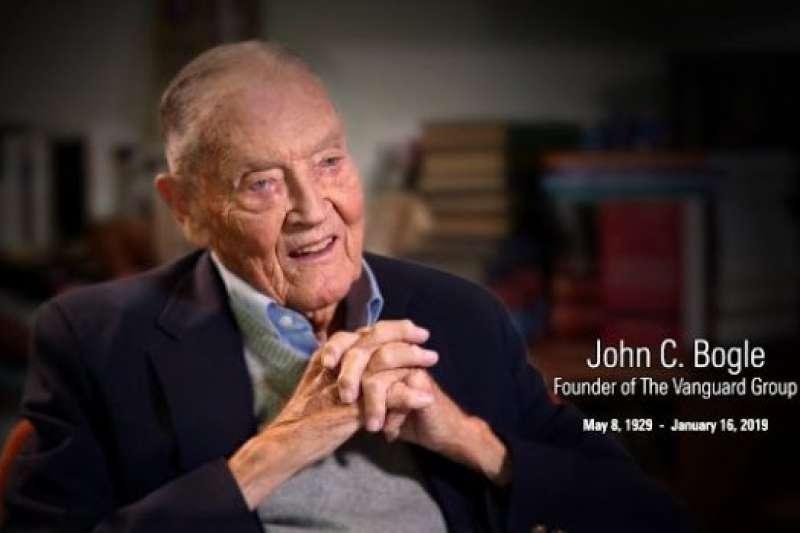 美國最大資產管理公司Vanguard創辦人John Bogle(約翰·伯格)。(圖片來源:阿爾發投顧)