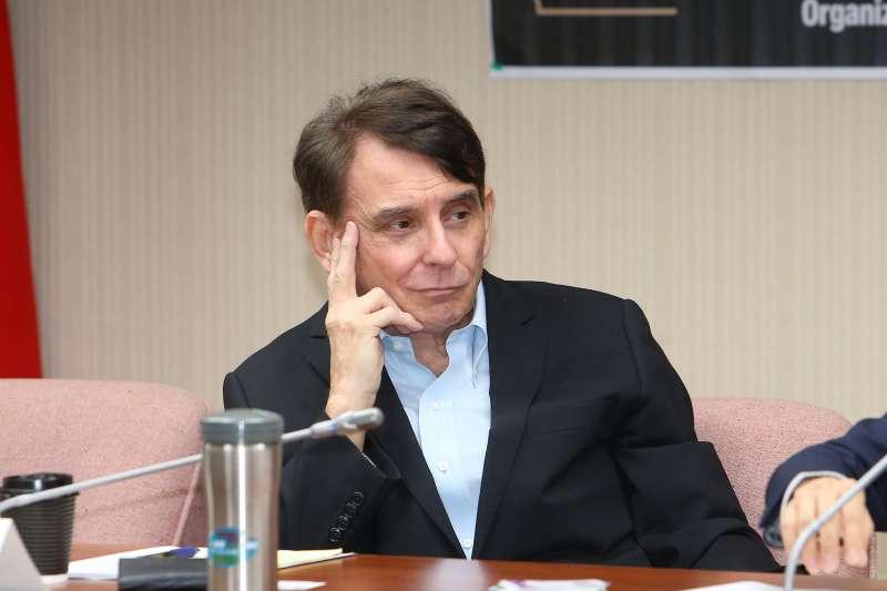 20200821-前AIT處長司徒文21日出席「美國民主黨全國代表大會選情分析」座談會。(顏麟宇攝)