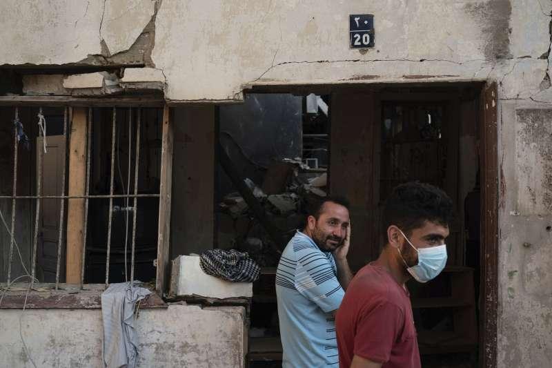 黎巴嫩首都貝魯特大爆炸近3周之後,新冠肺炎確診案例爆增2倍。(AP)