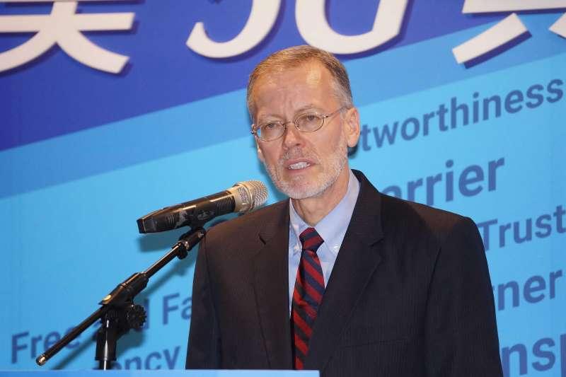 20200826-美國在台協會26日舉行台美5G安全共同宣記者會,處長酈英傑出席。(盧逸峰攝)