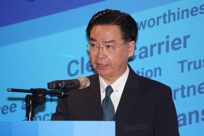 20200826-美國在台協會26日舉行台美5G安全共同宣記者會,外交部長吳釗燮出席。(盧逸峰攝)