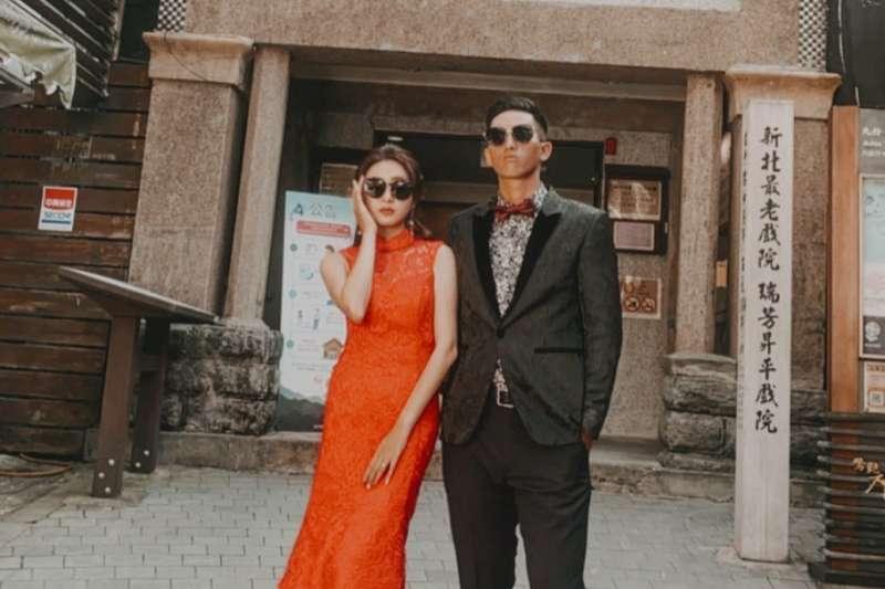 昇平戲院也適合拍攝復古婚紗(圖/chien_zhixiang@instagram提供)