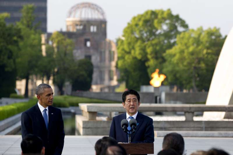 2016年5月7日,時任美國總統的歐巴馬造訪日本廣島。(美聯社)