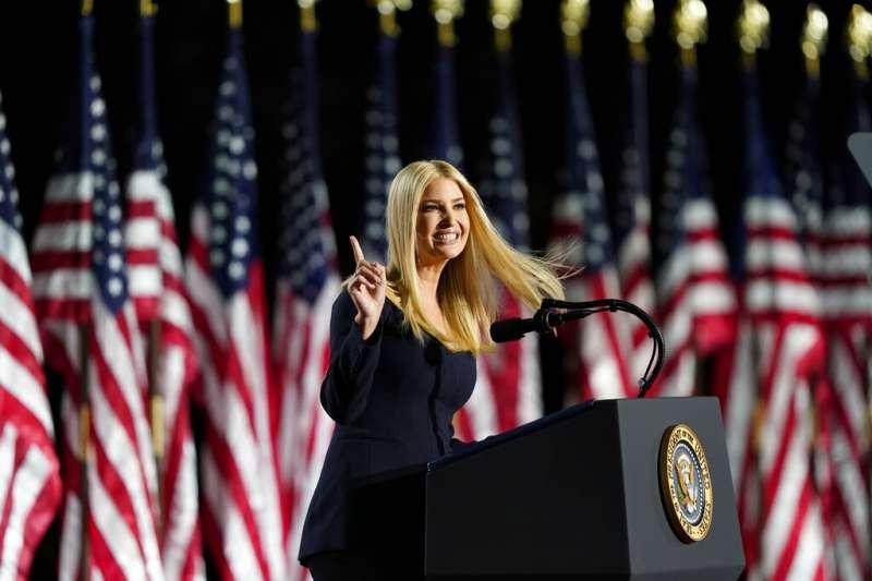 川普的女兒伊凡卡也在共和黨全代會上為父親助選。(美聯社)