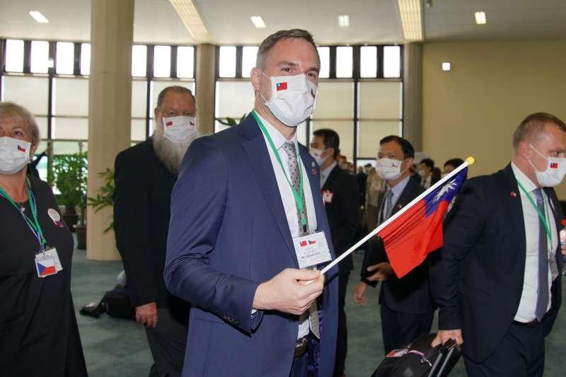 20200830-捷克政要訪問團30日抵達台灣,圖為布拉格市長賀吉普。(盧逸峰攝)