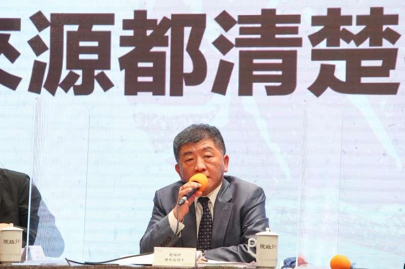 20200829-衛福部長陳時中針對開放美豬、美牛議題說明。(顏麟宇攝)