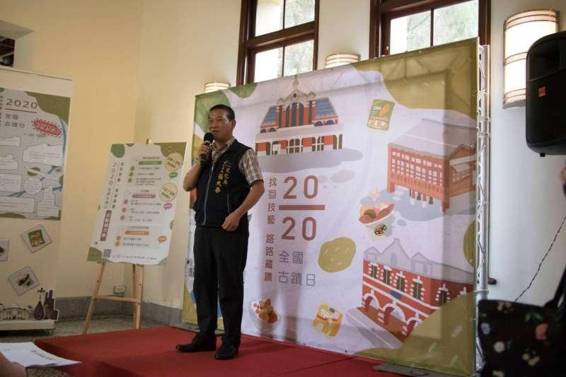 台中市文化局長張大春宣布,全國古蹟日將辦多場文化資產體驗系列活動。(圖/台中市政府提供)