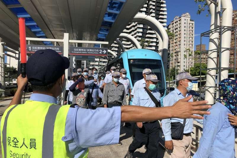 模擬演練項目執行旅客疏散。(圖/新北市捷運工程局提供)