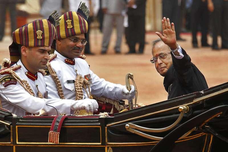 印度前總統普拉納布・慕克吉(Pranab Mukherjee)。(美聯社)